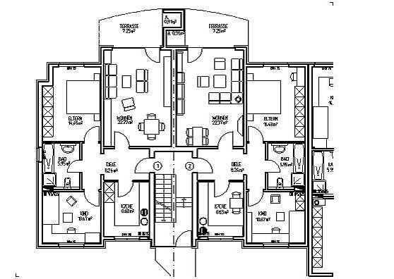 grundrisse wohnanlage mit 15 eigentumswohnungen und einem. Black Bedroom Furniture Sets. Home Design Ideas
