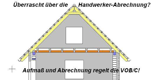 Abrechnung aller Bauleistungen regelt die VOB/C