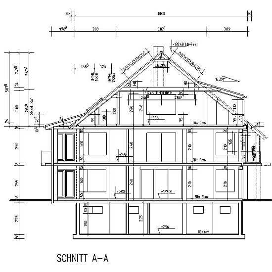 Baupl ne din 1356 1 beispiele lesen und verstehen for Bauplan wohnhaus